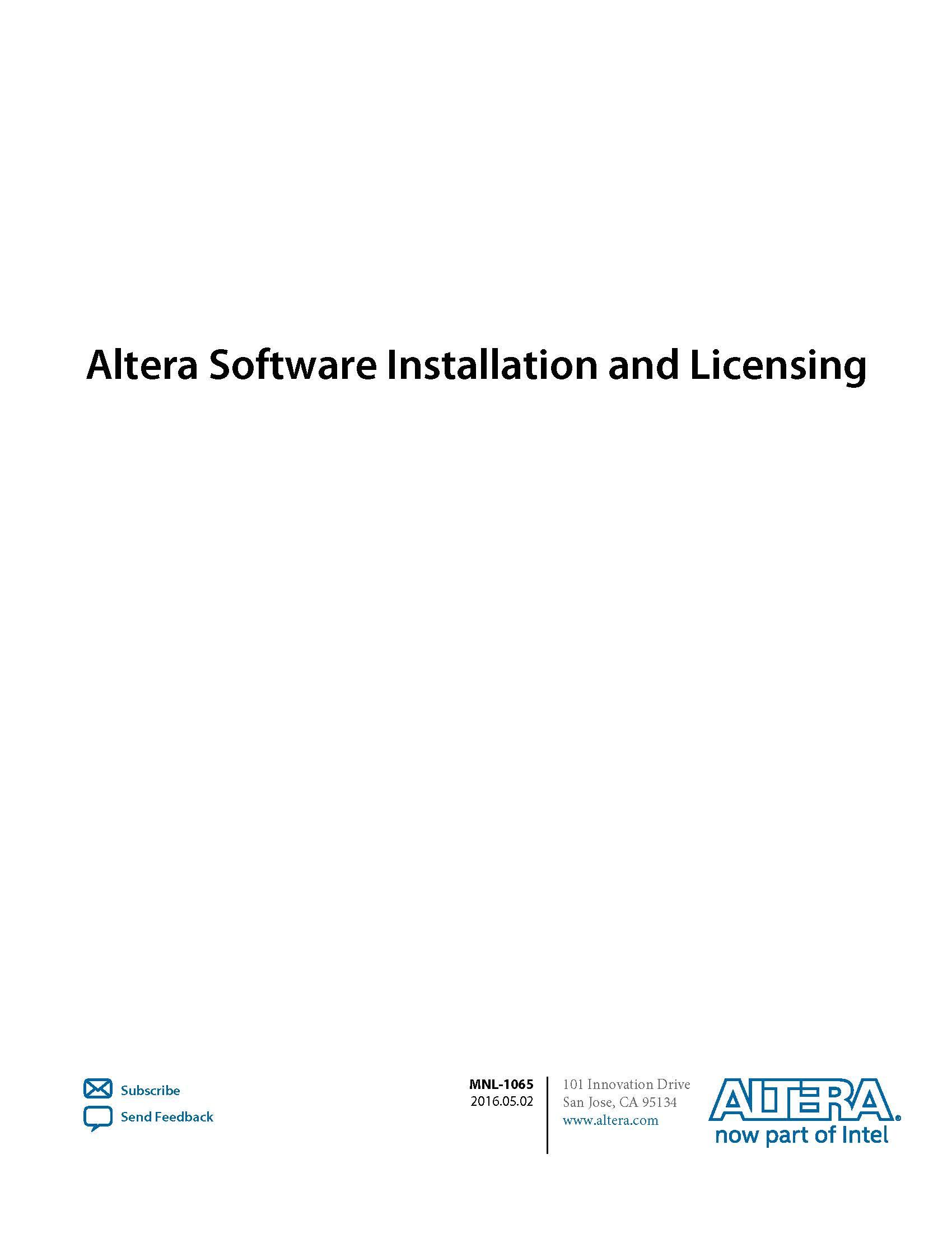 folatinglicense 设置quartus_install
